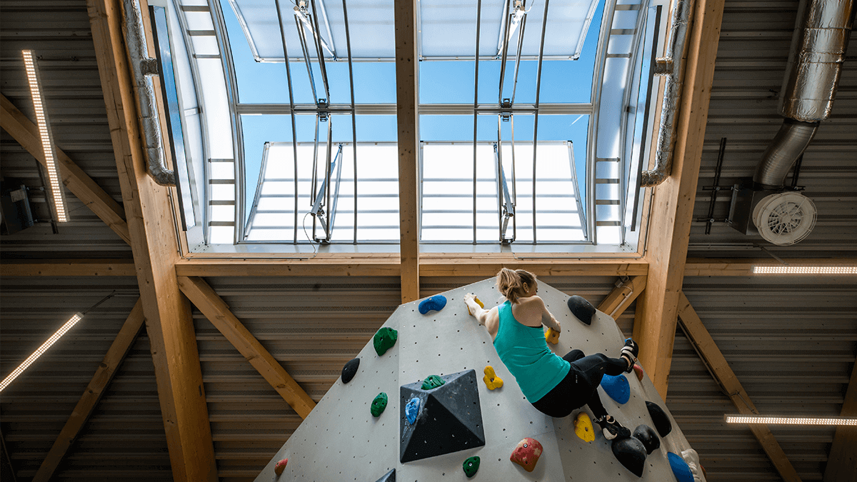 LAMILUX Continuous Rooflight B at the Climbing Centre Owl, Brakel