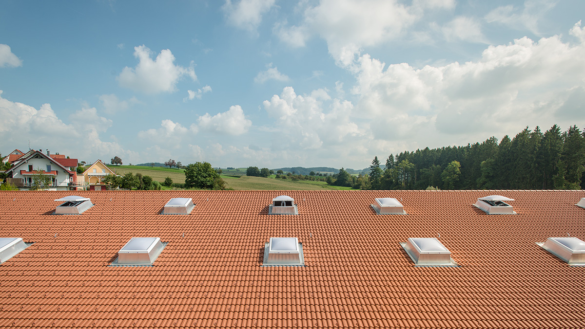 LAMILUX Rooflight Dome at the office building VauDe in Tettnang